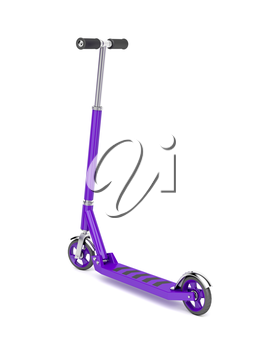 Push scooter on white background