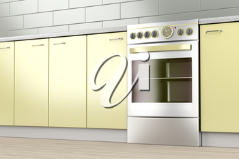 Electric stove in the kitchen