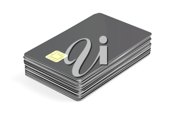 Stack with blank cards, can be used for telephone, bank or key cards