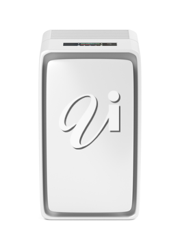 Electric air cleaner on white background