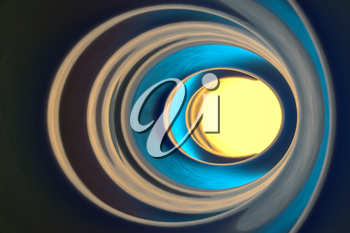 Colorful glowing tunnel, multicolor hole, 3d rendering. Computer digital drawing.