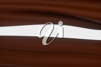 Waves of caramel and chocolate, 3d rendering. Computer digital drawing.