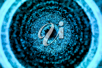 black hole with blue shiny particles, 3d rendering. Computer digital drawing.