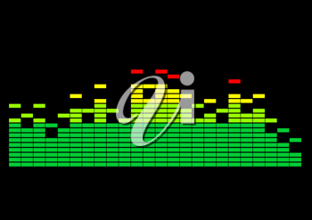 Royalty Free Clipart Image of an Equalizer Graph