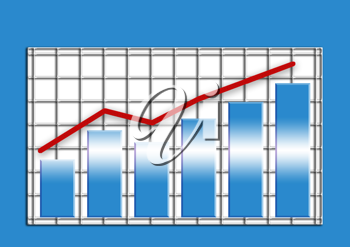 Royalty Free Clipart Image of a Business Chart