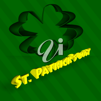 St Patricks Day Abstract background whith three-leaf clover