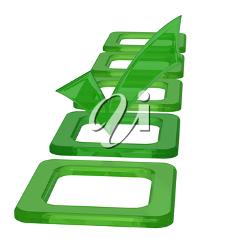 Royalty Free Clipart Image of a Glossy Check Mark