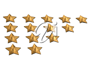 Royalty Free Clipart Image of Gold Stars