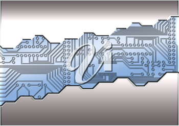 Royalty Free Clipart Image of an Abstract Circuit Board