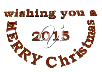 3d text wishing you Merry Cristmas design.