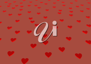 Red hearts Wedding or Valentine's day background.