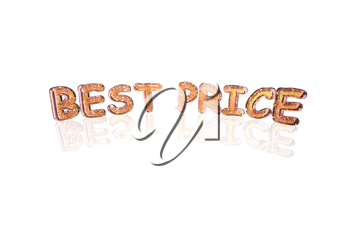 Word Best price made from many percentage symbols.