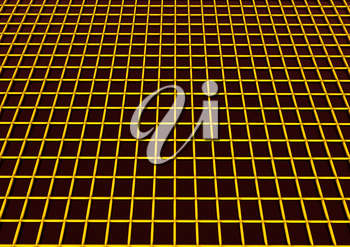 Abstract technology background with wired rectangle cells
