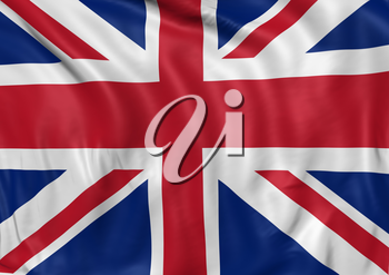 Image of a waving flag of UK