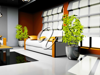 Royalty Free Clipart Image of a Room