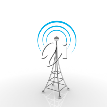 Royalty Free Clipart Image of an Antenna