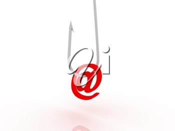 Royalty Free Clipart Image of a Fishhook With an Ampersand