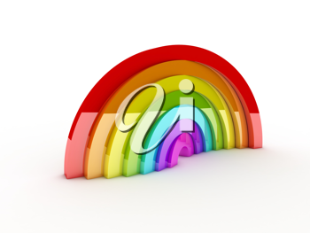 Royalty Free Clipart Image of a Rainbow