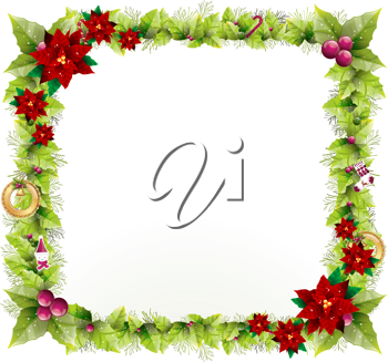 Royalty Free Clipart Image of a Christmas Frame