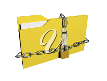 Royalty Free Clipart Image of Data Security