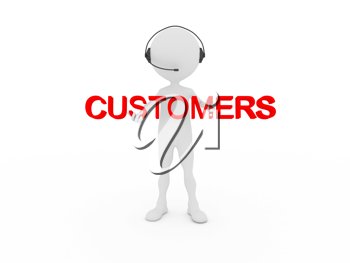 Royalty Free Clipart Image of a Customers Care Representative