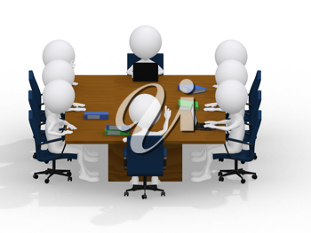 Royalty Free Clipart Image of a Business Group Meeting