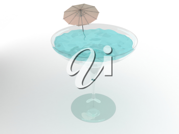 Royalty Free Clipart Image of a Martini Glass