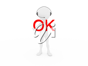 Royalty Free Clipart Image of a Phone Operator