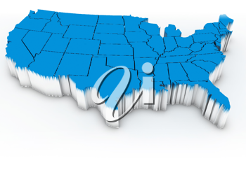 Royalty Free Clipart Image of the USA
