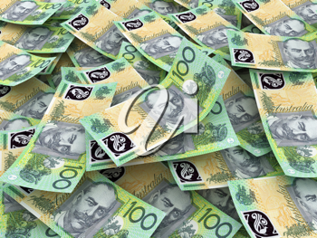 Australian Currency Close-up.  100 AUD