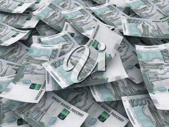 Russian roubles currency background