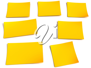 Royalty Free Clipart Image of Sticky Notes