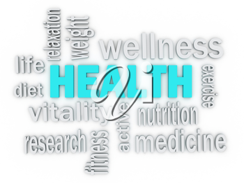 Royalty Free Clipart Image of a Health Word Collage