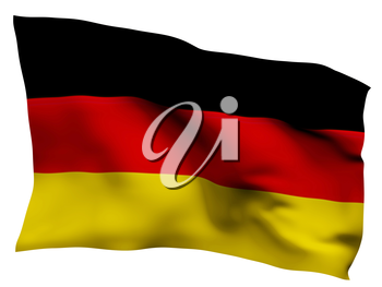 Royalty Free Clipart Image of a German Flag