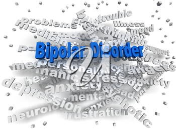 3d image Bipolar disorder issues concept word cloud background