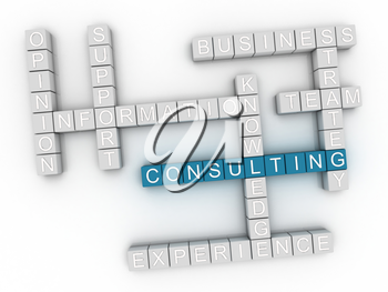3d image Consulting word cloud concept