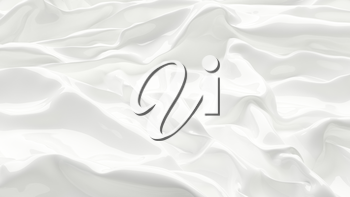 3D Illustration White Abstract Texture Wavy Material