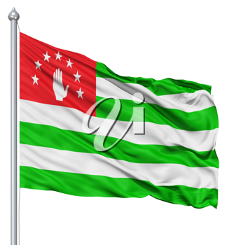 Royalty Free Clipart Image of the Flag of Abkhazia