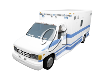 Royalty Free Clipart Image of an Ambulance