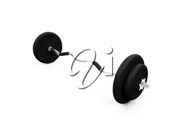 Royalty Free Clipart Image of a Dumbbell