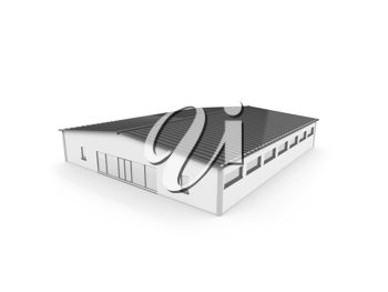 Royalty Free Clipart Image of a Hangar Structure
