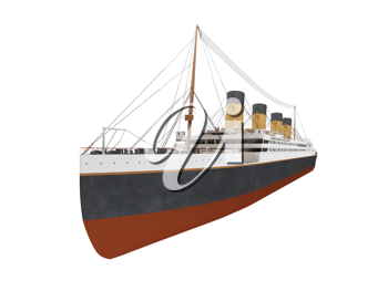 Royalty Free Clipart Image of a Big Ship Liner