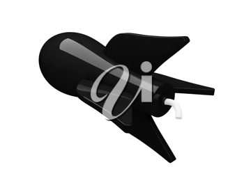Royalty Free Clipart Image of a Bomb