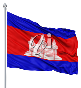 Royalty Free Clipart Image of the Flag of Cambodia