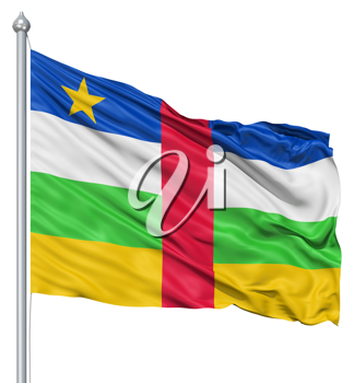 Royalty Free Clipart Image of the Central African Republic Flag