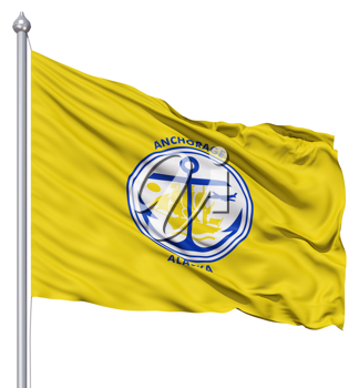 Royalty Free Clipart Image of the Anchorage City Flag