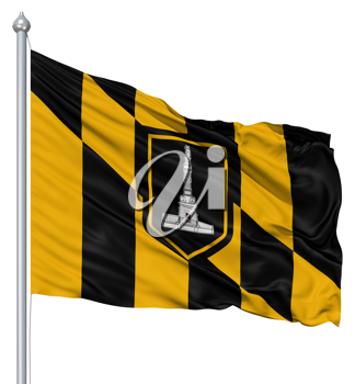 Royalty Free Clipart Image of the Baltimore City Flag