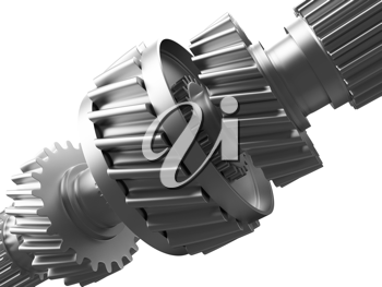 Royalty Free Clipart Image of a Cogwheel