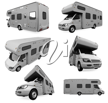 Royalty Free Clipart Image of a Bunch of Vehicles