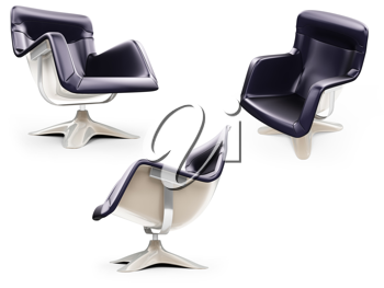 Royalty Free Clipart Image of Armchairs